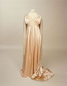 """Pale peach dress by Liberty & Co. ca. 1905-1909 via Manchester City Galleries"" From OMG that dress!"