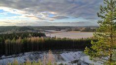 Syksyinen maisema Kirkkomäen harjuilta Janakkalan suuntaan.