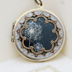 LocketBrass LocketDandelions LocketPhoto by emmagemshop on Etsy $69.99