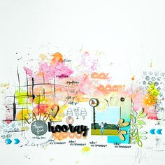 #papercrafting #scrapbook #layout -  Hooray for summer!