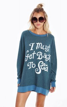 Must Get Back To Sea Roadtrip Sweater