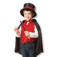 Melissa & Doug Magician Role Play Fancy Dress Costume Outfit Set Y Book Day Dress Up Outfits, Dress Up Costumes, Hocus Pocus, Magician Costume, Melissa & Doug, Trendy Plus Size, The Magicians, Fancy Dress, Boy Or Girl