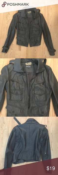 Kenneth Cole Leather Jacket Vintage Kenneth Cole Faux Leather Jacket. Normal wear and tear (see attached pictures). Size Small. Kenneth Cole Reaction Jackets & Coats