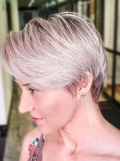 Latest Short Pixie Hair Cut Styles for Girls to Try in 2021 Latest Short Hairstyles, Short Pixie Haircuts, Pixie Hairstyles, Short Hair Trends, Short Hair Styles, Hair Specialist, Short Hair Cuts For Women, Cut And Style, Gorgeous Hair