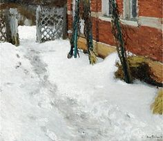 House Corner In Winter, Igor Grabar (Budapest 1871~1960 Moscow) | Russian Post-Impressionism