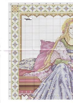 0 point de croix femme princesse du moyen age  - cross stitch middleages lady part 2