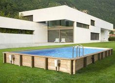 piscine hors sol démontable en forme rctangulaire