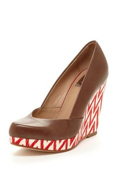 Ella Moss Evelyn Wedge Pump with Chevron.