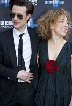 alex kingston and matt smith.   because they will have curly haired time babies