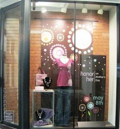 Inspirations for shop window and display. Mothers Day May, Thick And Thin, Visual Display, Yarn Shop, Visual Merchandising, Whimsical, Maternity, Neon Signs, Seasons