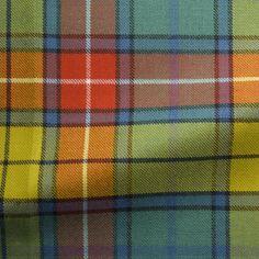 Tartans of Scotland orange yellow blue | Tartan Fabric, Buchanan Old Ancient