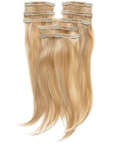 7 pieces of hair extensions all with REAL double wefts! x