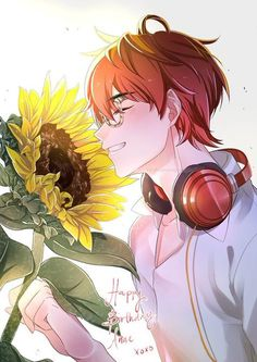 """""""A very belated 707 from Mystic Messenger for my dear friend, Anne's birthday.✨🌻Thank you for always being so supportive of my art 💖💖 ilu! Manga Anime, Fanarts Anime, Anime Art, Seven Mystic Messenger, Mystic Messenger Fanart, Anime Girls, Luciel Choi, Messenger Games, Kik Messenger"""