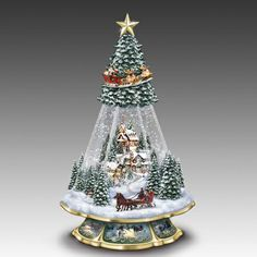Thomas Kinkade Victorian Memories Holiday Snow Globe Christmas Tree | eBay