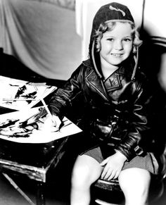 Behind the scenes of Bright Eyes, 1934.