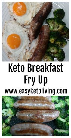 Keto Breakfast Fry Up - An Easy Ketogenic Diet Breakfast full of low carb and high fat foods.