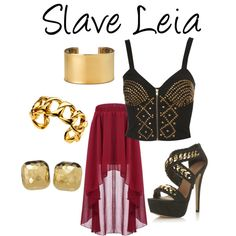 """Star Wars - Slave Leia"" by beccagilbert on Polyvore"