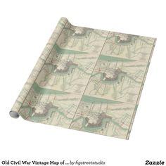 Old Civil War Vintage Map of New Orleans Wrapping Paper