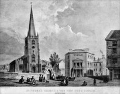 St Peter's Church and The New Post Office c.1850
