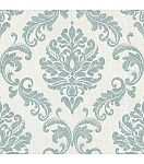 Sebastion Aqua Damask Wallpaper
