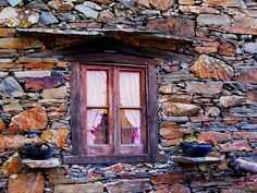 See related links to what you are looking for. Stone Houses, Portugal, Windows And Doors, Portuguese, House Plans, Painting, Beautiful, Homes, Country