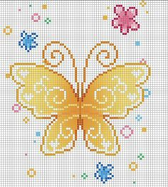 embroidery butterfly diagram