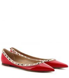 Rockstud Patent-leather Ballerinas by: Valentino