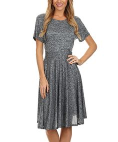 Another great find on #zulily! Blue Marled A-Line Dress by BellaBerry USA #zulilyfinds
