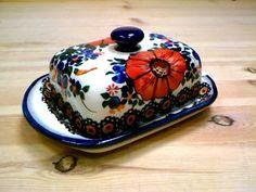 Polish Pottery Butter Dish SCG062 P17C Cergor