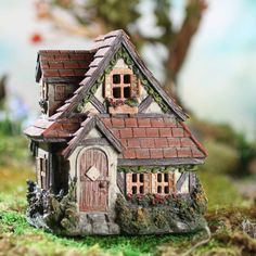 English Cottage Fairy Garden House size fairy garden ideas English Cottage Fairy Garden House - Table Decor - Home Decor Miniature Fairy Gardens, Miniature Houses, Miniature Fairies, English Cottage, Twig Crafts, Fairy Garden Supplies, Fairy Furniture, Furniture Online, Furniture Movers