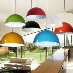 Aliexpress.com : Buy Promotion Dia 36CM Aluminum Modern Brief Multi Colorful Pendant Lamp Nordic Design Bar Office Pendant Lamp Aluminum Art Lighting from Reliable light ceiling lamp suppliers on homestia Official Store