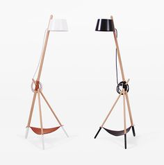 Ka M Floor reading lamp by WoodenDot. Ka M is a standard lamp, which radiates direct light. Its simple and elegant lines are drawn from a stylish structure of beech wood slats, a tripod shape and joined together by a leather thread. http://www.zocko.com/z/JJoUf