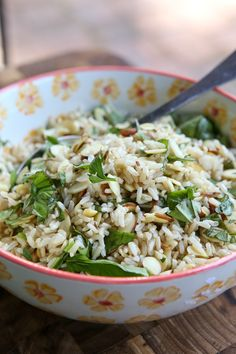Toasted Almond Herbed Brown Rice from @aggieskitchen #ThinkFisher