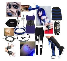 """""""Eve Night"""" by frostbiten ❤ liked on Polyvore featuring BKE, Saddlebred, Forever 21, Lime Crime, Electric Picks, Eina Ahluwalia and Bling Jewelry"""