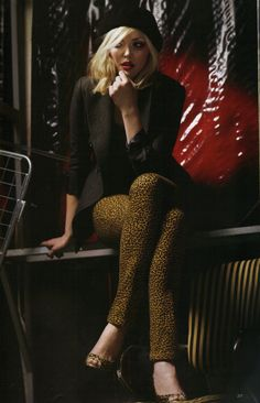 Sophie Dahl as Debbie Harry. I remember buying the magazine this editorial featured in. Retro.