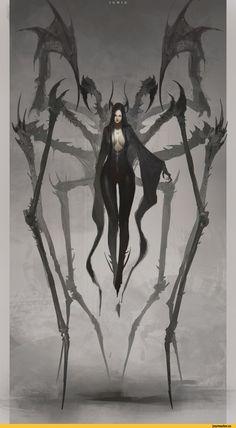 арт барышня,арт девушка, art барышня, art девушка,,красивые картинки,Fantasy,Fantasy art,art,арт,Ben Juniu   s[ider lady, woman, creepy horror art monsters