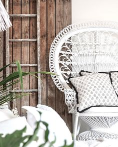 Village - Sitting Pretty  A feature chair makes a great focal point to an interior, especially when it looks this good. Remember to keep your decorating simple, it helps soften the space using a perfectly matched cushion.  Featured: White Peacock Chair with Fringed Paisley Cushion.  Explore our products online & in stores today.  Showrooms: Bundall & Burleigh Online: www.villagestores.com.au (at Village Stores)