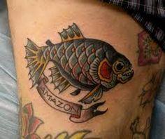 Resultat d'imatges de tatuajes de pirañas significado