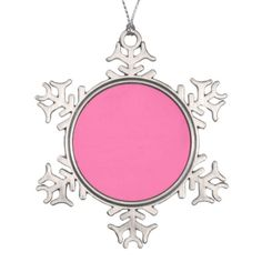 White Snowflake Pewter Christmas Ornament - home gifts ideas decor special unique custom individual customized individualized Pink Christmas Ornaments, Snowflake Ornaments, Ball Ornaments, Snowflakes, Christmas Diy, Snow Flakes Diy, White Snowflake, Holiday Festival, Home Gifts