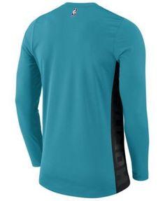 Nike Men's Charlotte Hornets Hyperlite Shooter Long Sleeve T-Shirt - Blue XXL