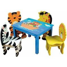 Noah's Ark Animal chairs and table for children
