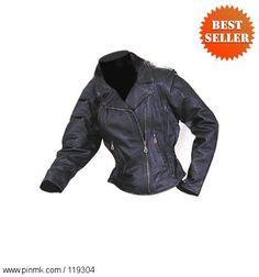 Motorcycle Jackets - Women's Leather Motorcycle Jacket LJ657