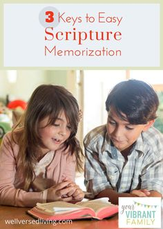 Not sure how to help kids memorize Bible verses? This post has 3 easy (and powerful!) ways for scripture memorization. These 3 keys make memorizing scripture easy and do-able! You've got to check it out!