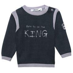 Jersei King azul marino con detalles en gris