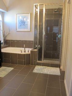 Bathroom Remodeling Project By The Floor Barn In Burleson Tx Tile Used On Bathroom Floor Was