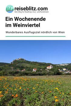 Das niederösterreichische Weinviertel liegt nördlich von Wien und ist ein tolles Ausflugsziel. Unsere Tipps für ein Wochenende stellen wir dir hier vor. Reisen In Europa, Influencer, Travel, Holiday Destinations, Small Places, Bike Rides, Round Trip, Travel Report, Viajes