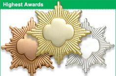 Girl Scout Gold Award, Silver Award and Bronze Award