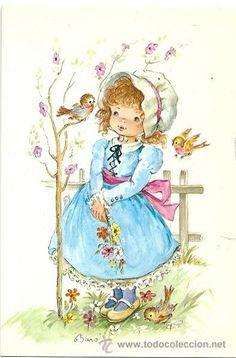 Christmas Illustration, Cute Illustration, Vintage Cards, Vintage Postcards, Images Noêl Vintages, Kindle Paperwhite Case, Sarah Key, Disney Coloring Pages, Holly Hobbie