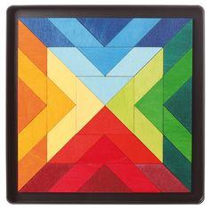 Puzzle magnétique Square Indian - Grimm's 26€