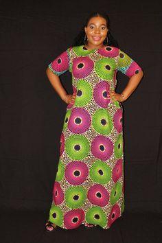 c37aaaed21c16 Maxi dress African clothing Ankara Maxi dress African Print Maxi Dress Loose  Maxi dress plus size Maxi dress African clothing for women